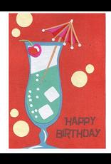 Cocktail Birthday Greeting Card, Rwanda