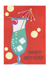 Cocktail Birthday Greeting Card