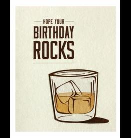 Birthday Rocks Greeting Card