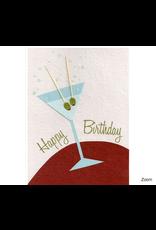 Birthday Martini Greeting Card