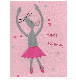 Mouse Ballerina Birthday Greeting Card