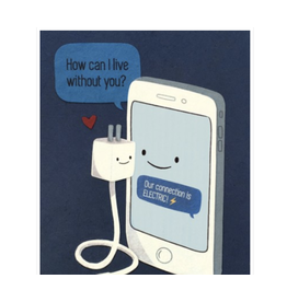 Modern Phone Love Greeting Card