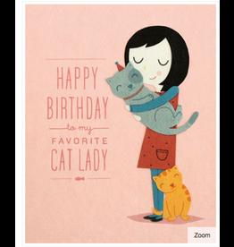 Cat Lady Birthday Greeting Card, Philippines