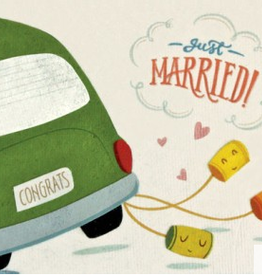 Just Married Wedding Cans