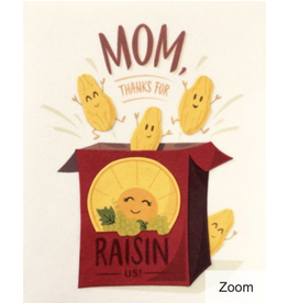 Raisin Mother's Day Card