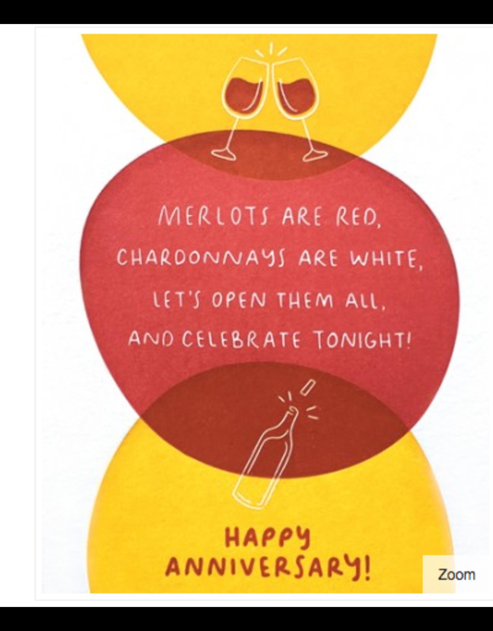 Wine Poem Happy Anniversary Card