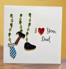 I love you Dad Quill Card