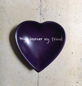 My Mother My Friend Heart Dish Soapstone