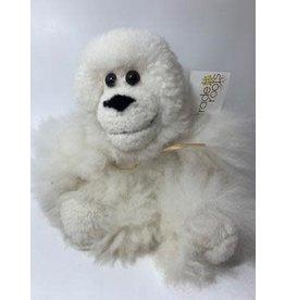 Alpaca Fur Stuffed Monkey