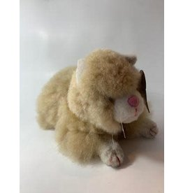 Peru, Alpaca Fur Animal Kitty (brown or white)