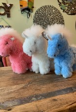 Peru, Alpaca Fur Animal Unicorn, Pink, Blue, White