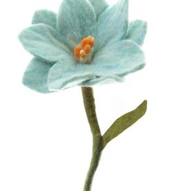 Nepal, Felt Wild Flower Pastel Blue
