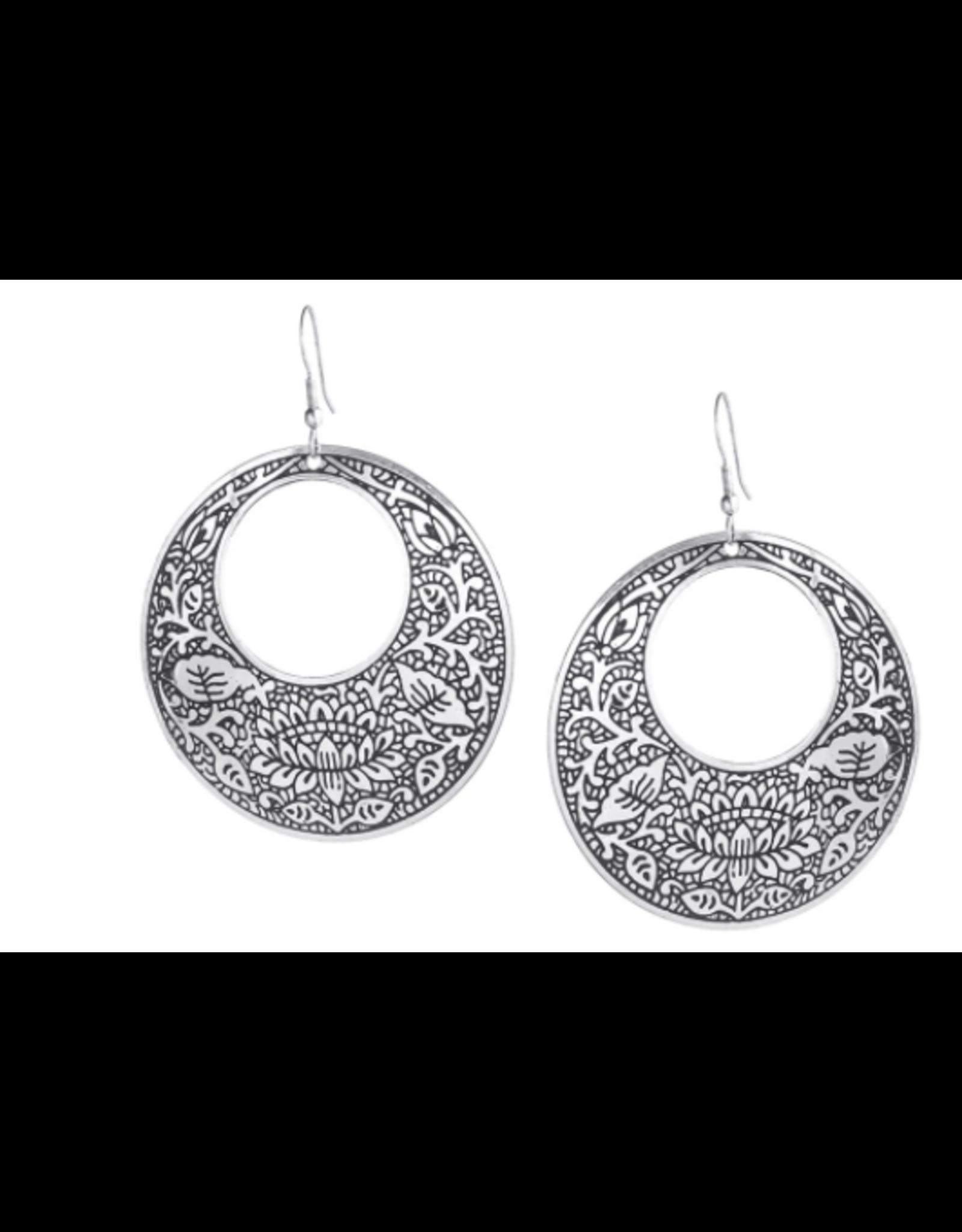 Metal Impression Earrings, India
