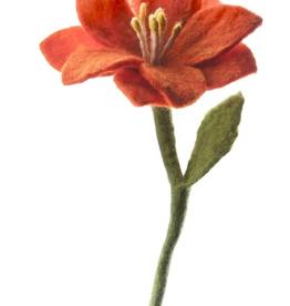 Felt Wildflower, RED ORANGE