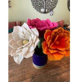Nepal, Felt Lotus Flower ORANGE