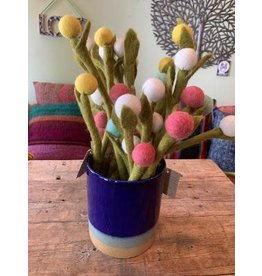 Felt Billy Buttons Flower, Yellow, Nepal