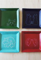 Loving Cat Dish  Soapstone
