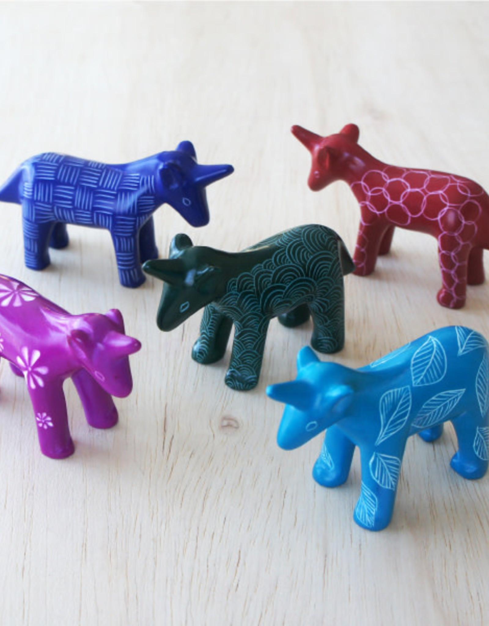 Unicorn Soapstone, Blue or Pink