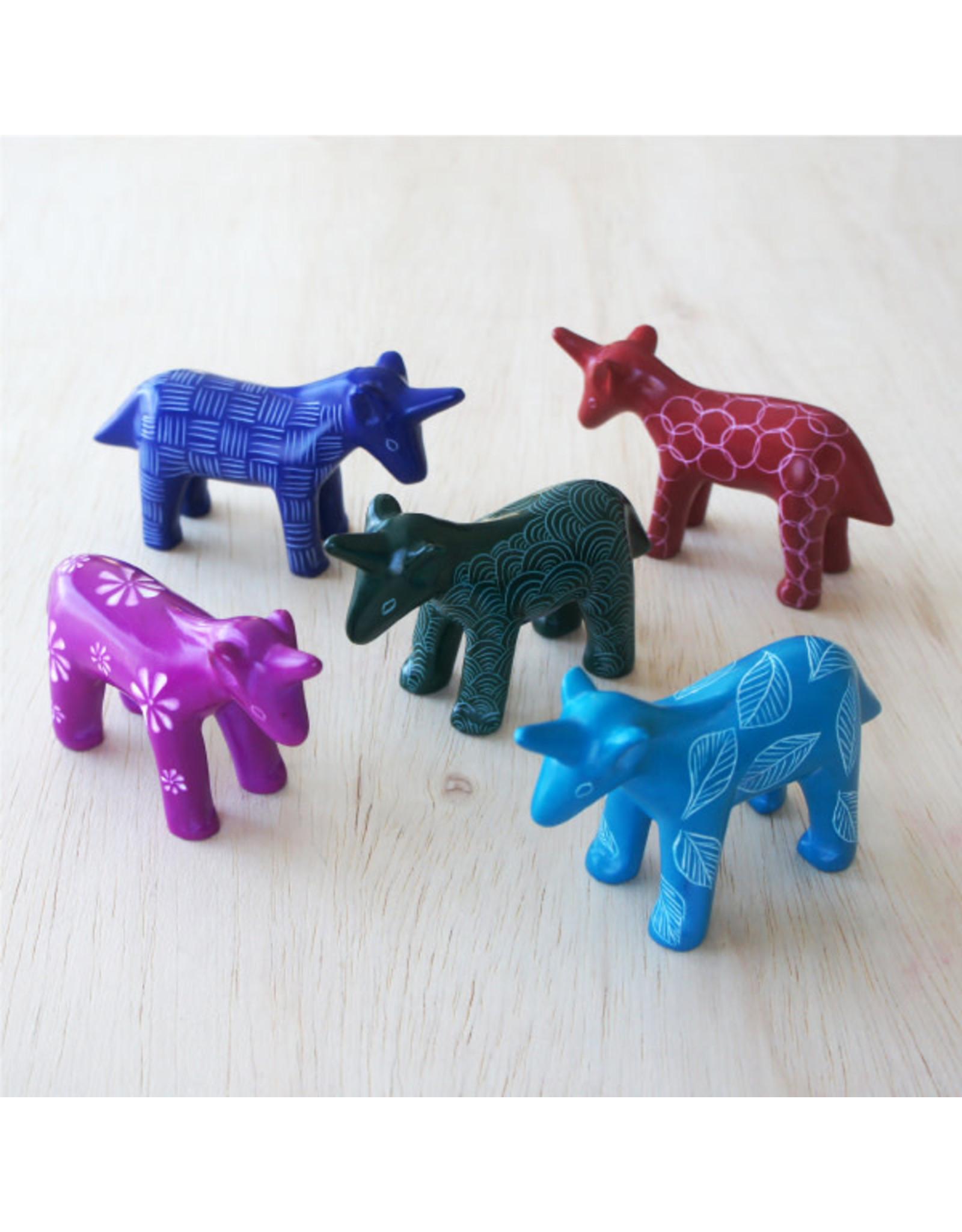 Unicorn Soapstone, Blue or Pink, Kenya