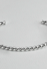 Twisted  Sterling Silver Cuff Stout