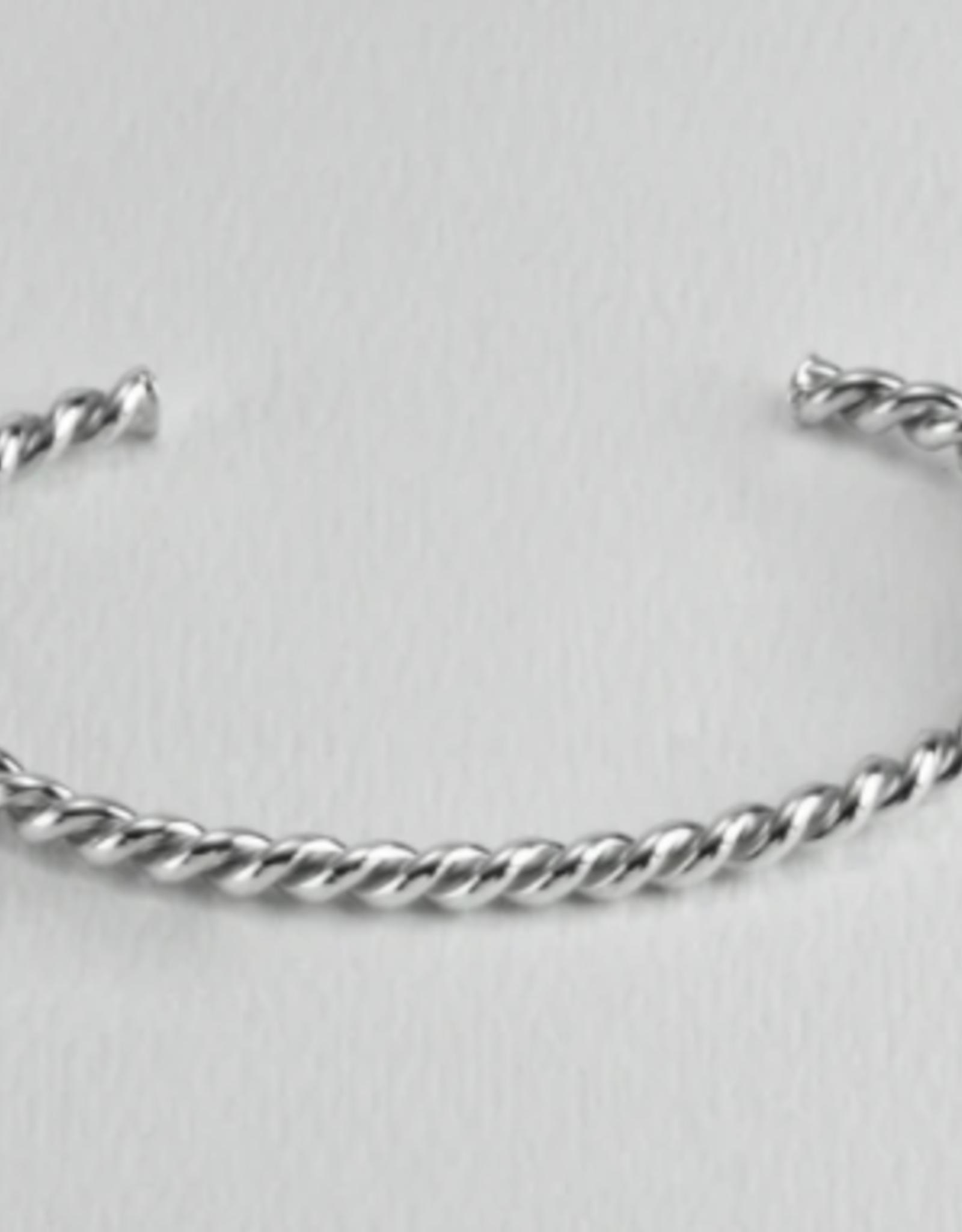 Twisted Silver Cuff-Stout