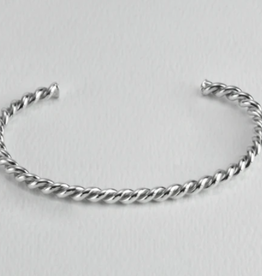 Twisted Silver Cuff-Stout