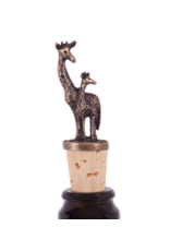 Bottle Stopper Momma and Baby Giraffe