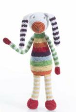Crocheted Rattles Rainbow Bunny, Bangladesh