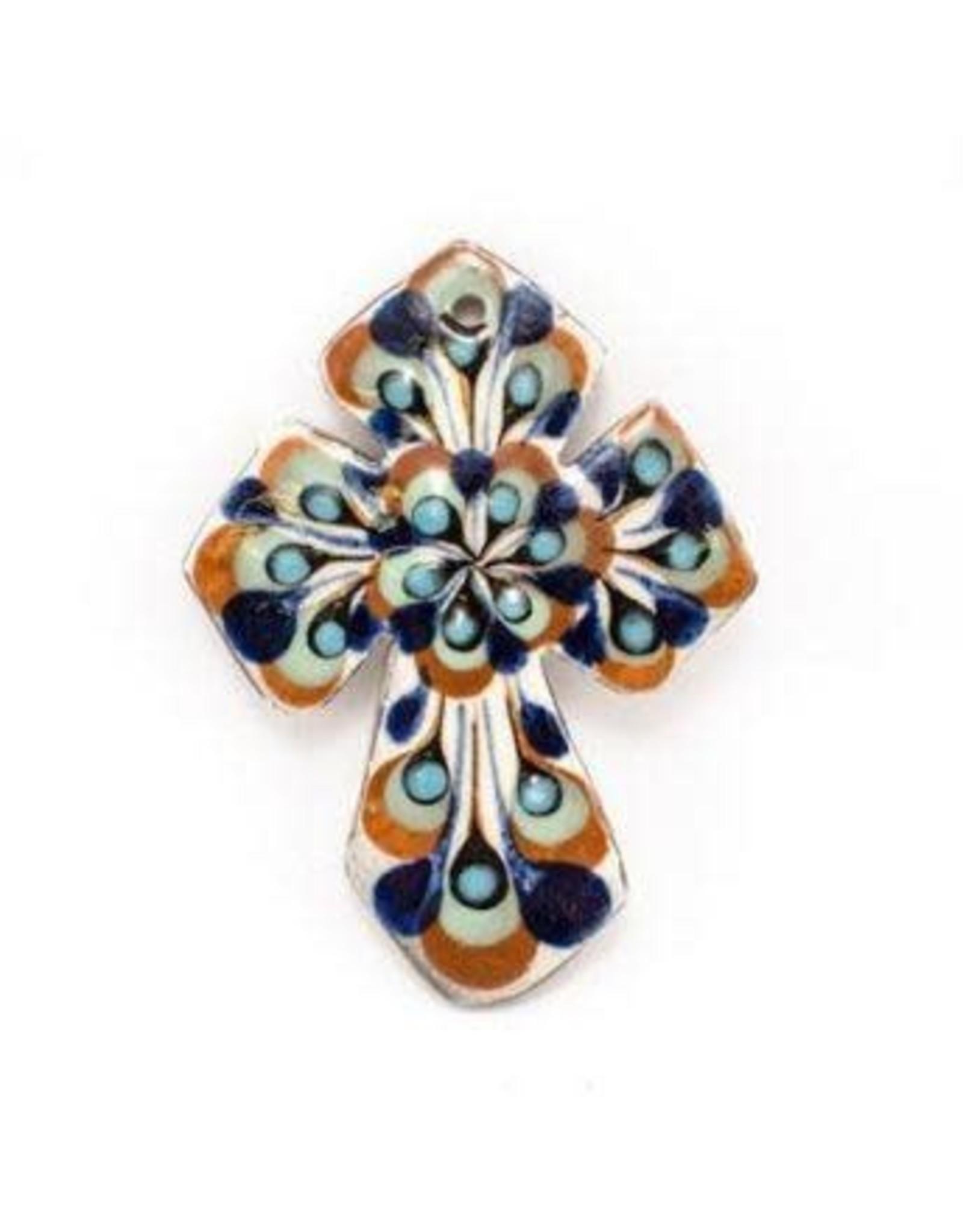 Hand Painted Small Ceramic  Cross