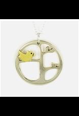 Momma Bird Pendant Necklace