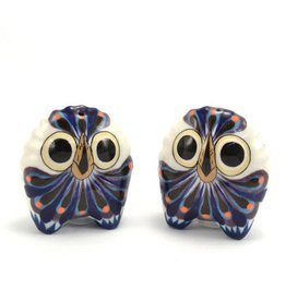 Owl Salt and Pepper Shakers, Guatemala
