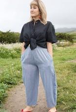Cotton Bowleg Pants, Blue, Nepal