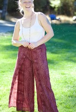 Palazzo Pants, Red, One size