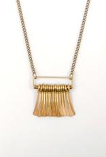 Rectangle Fringe Necklace