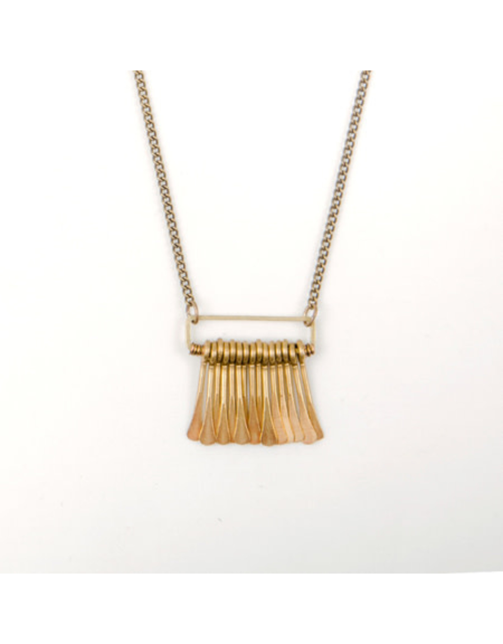 Rectangle Fringe Necklace, Guatemala