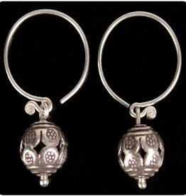 Sterling Drop Tribal Earrings