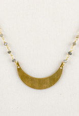 Labradorite & Moon Gold Plated Necklace