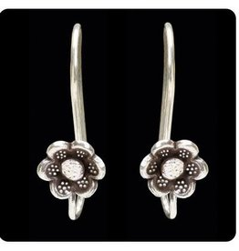 Sterling Tribal Hook Design w/ Flower