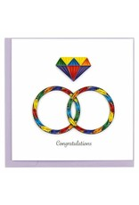 Rainbow Rings Quill card