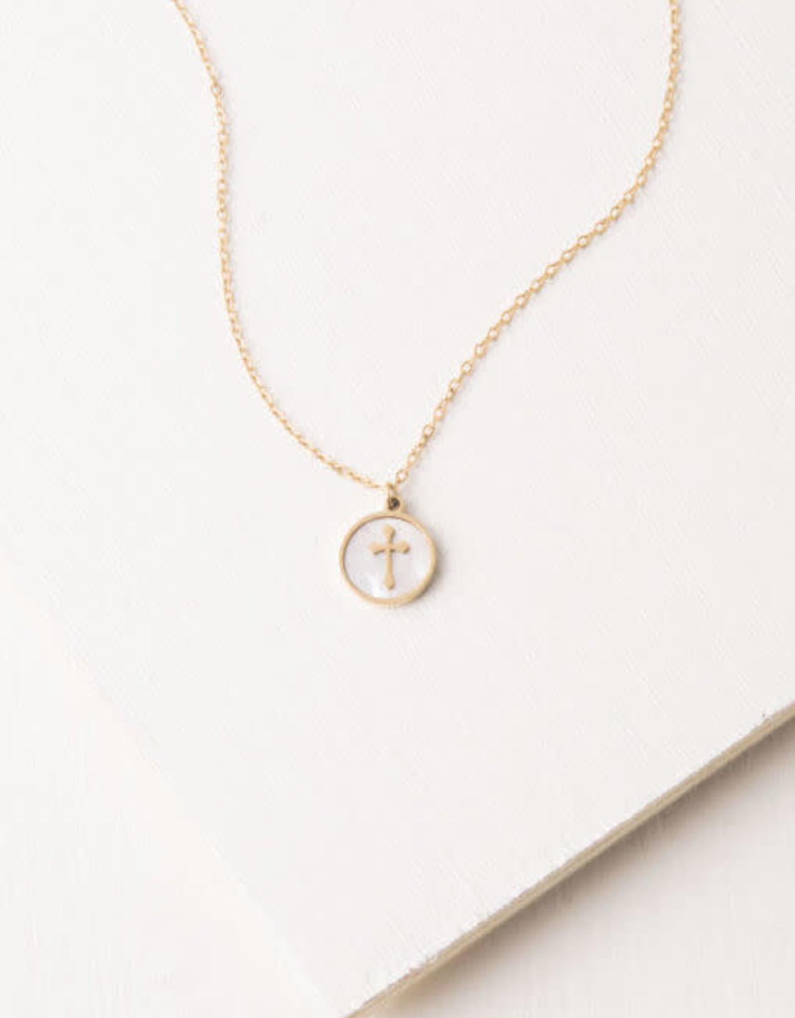 Joyce Shell Cross Necklace