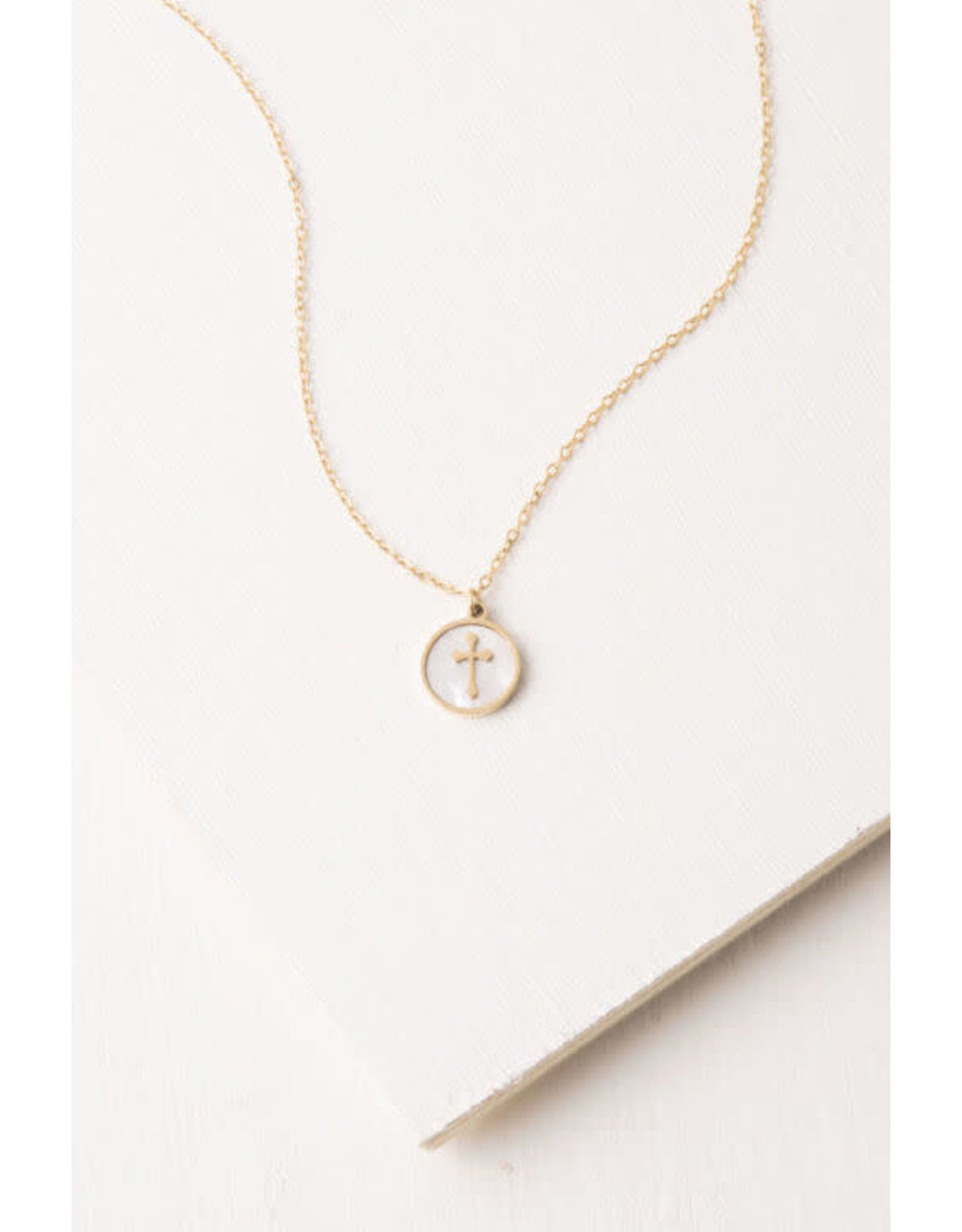 Joyce Shell Cross Necklace
