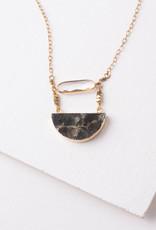 Chloe, Crystal & Labradorite Pendant Necklace