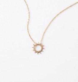 Mallory Gold Sun Necklace