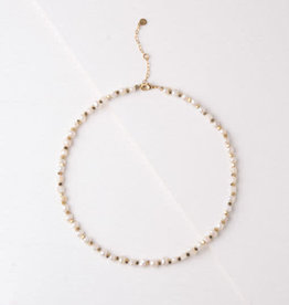 Delores Pearl and Hematite Necklace