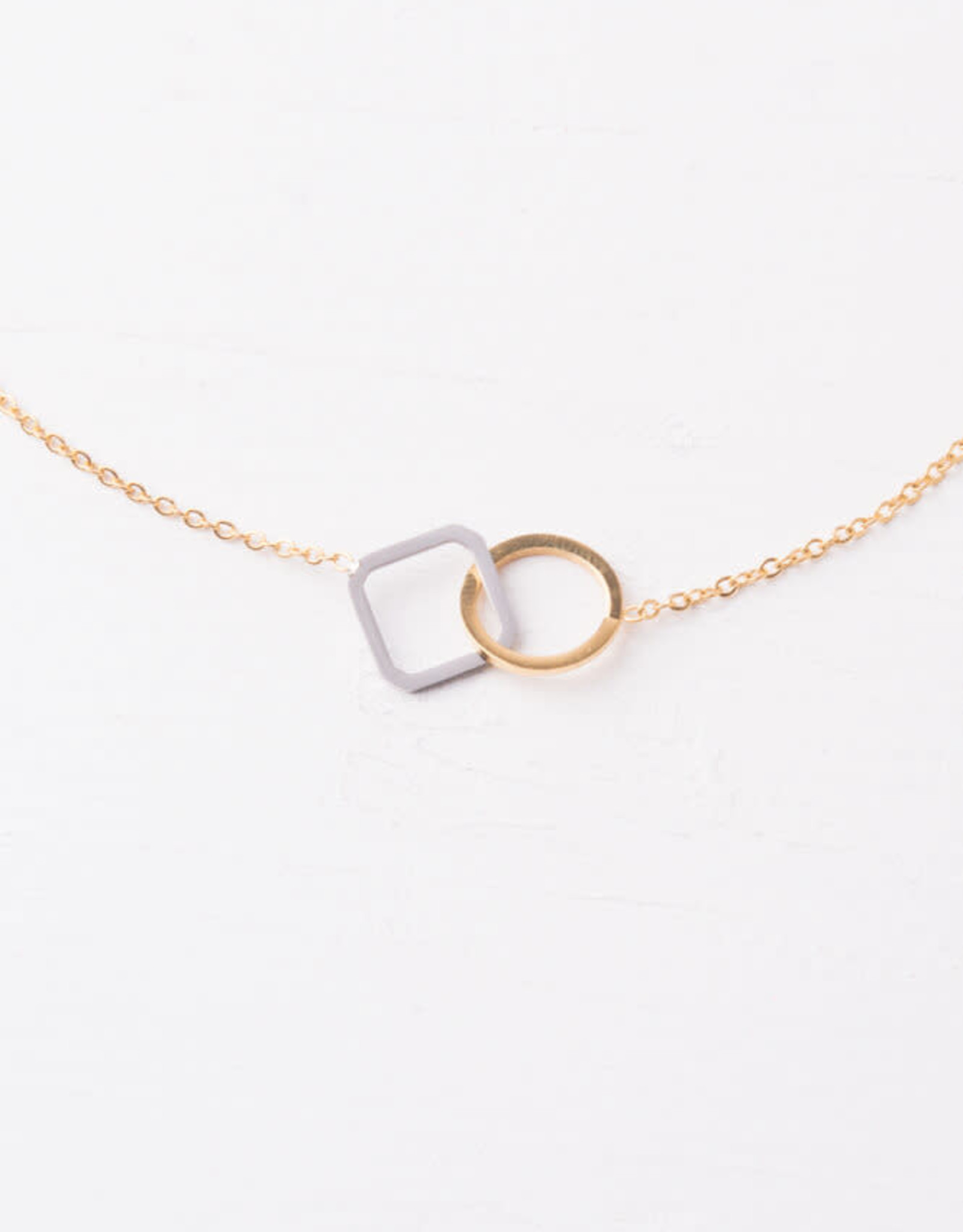 Caprice Circle and Square Necklace