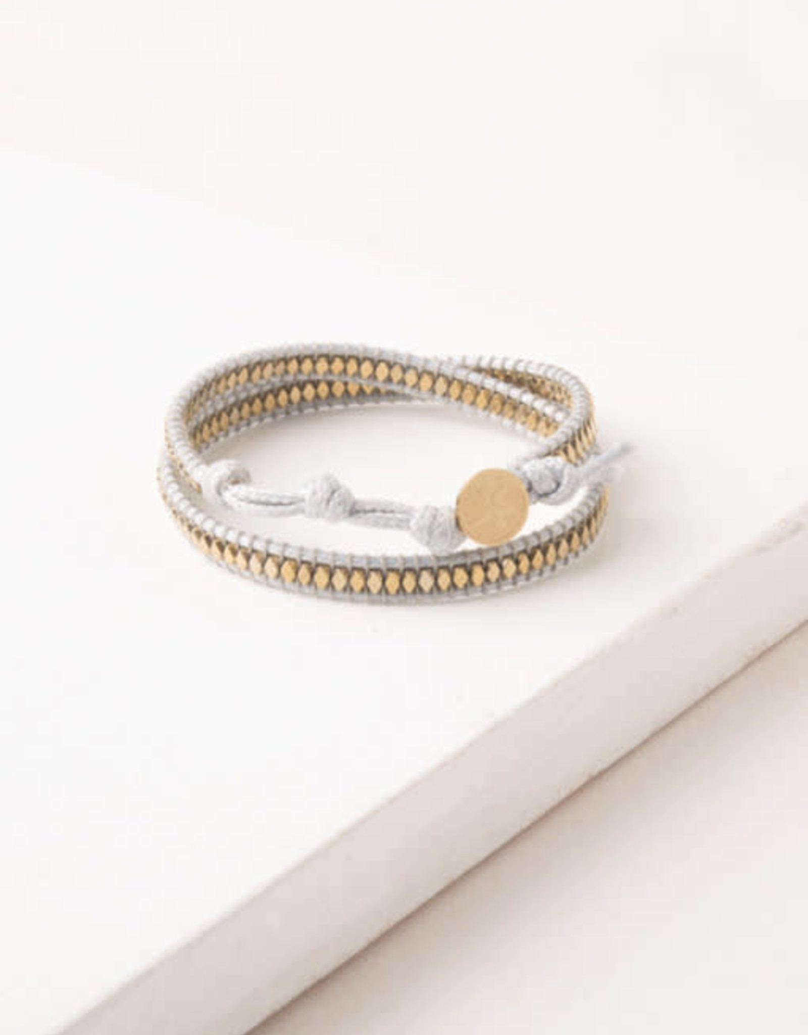 Sue White  Wax Rope Wrap Bracelet