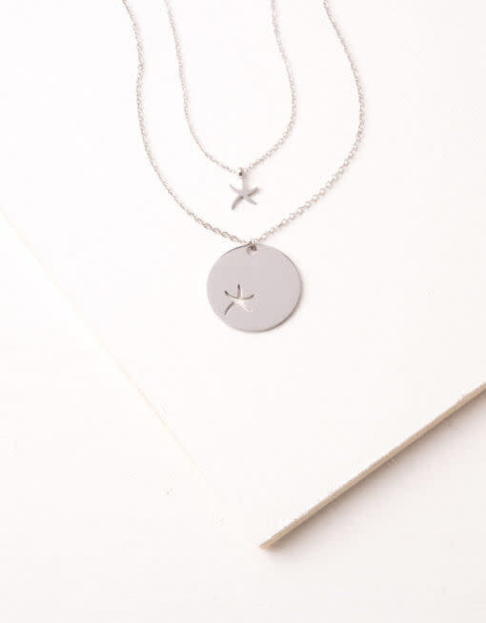 Community Silver Starfish Necklace
