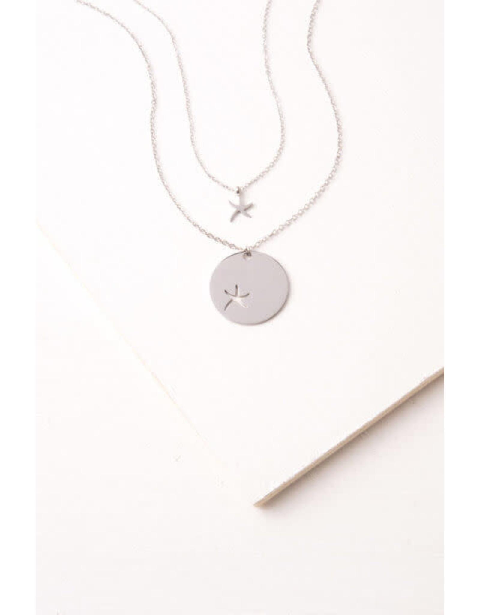 Community Silver Starfish Necklace, China