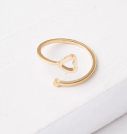 Ada, Gold plated Heart Ring