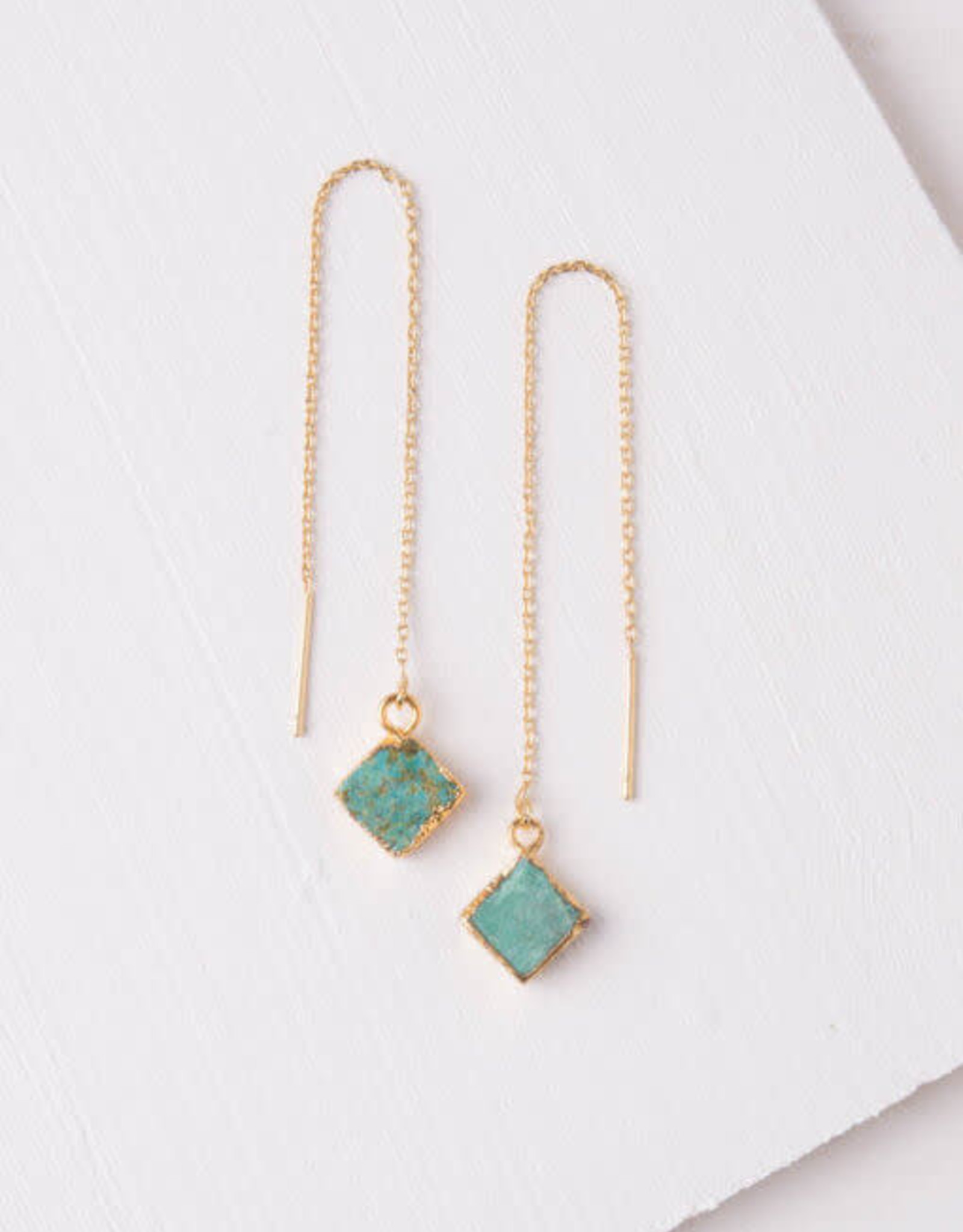 Mary Love, Turquoise Dangle Earrings